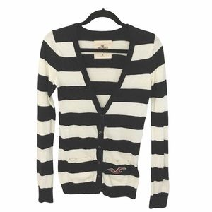 Hollister ★ Rugby Stripe Cardigan Sweater ★ Navy